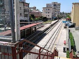 Vista della stazione di Scafati