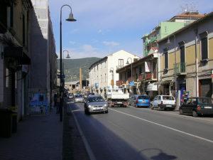 L'ingresso nel comune di Pontecagnano