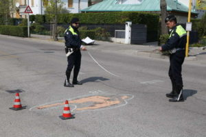 incidente pedone radiobussola