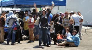 Migranti al porto di Salerno
