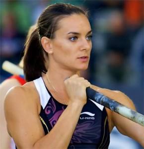 yelena isinibaeva, specialista russa del salto con l'asta