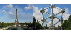 Torre Eiffel - simbolo di Parigi  Atomium - simbolo di Bruxelles