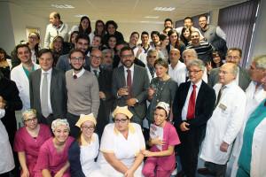 gruppo con rettore polo professioni sanitarie