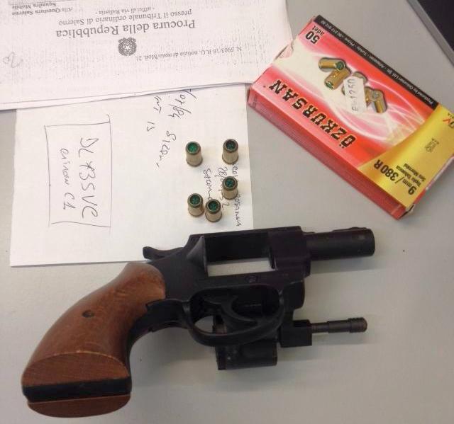 Pistola sequestrata dai falchi_radiobussola