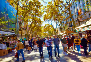 Las Ramblas di Barcellona