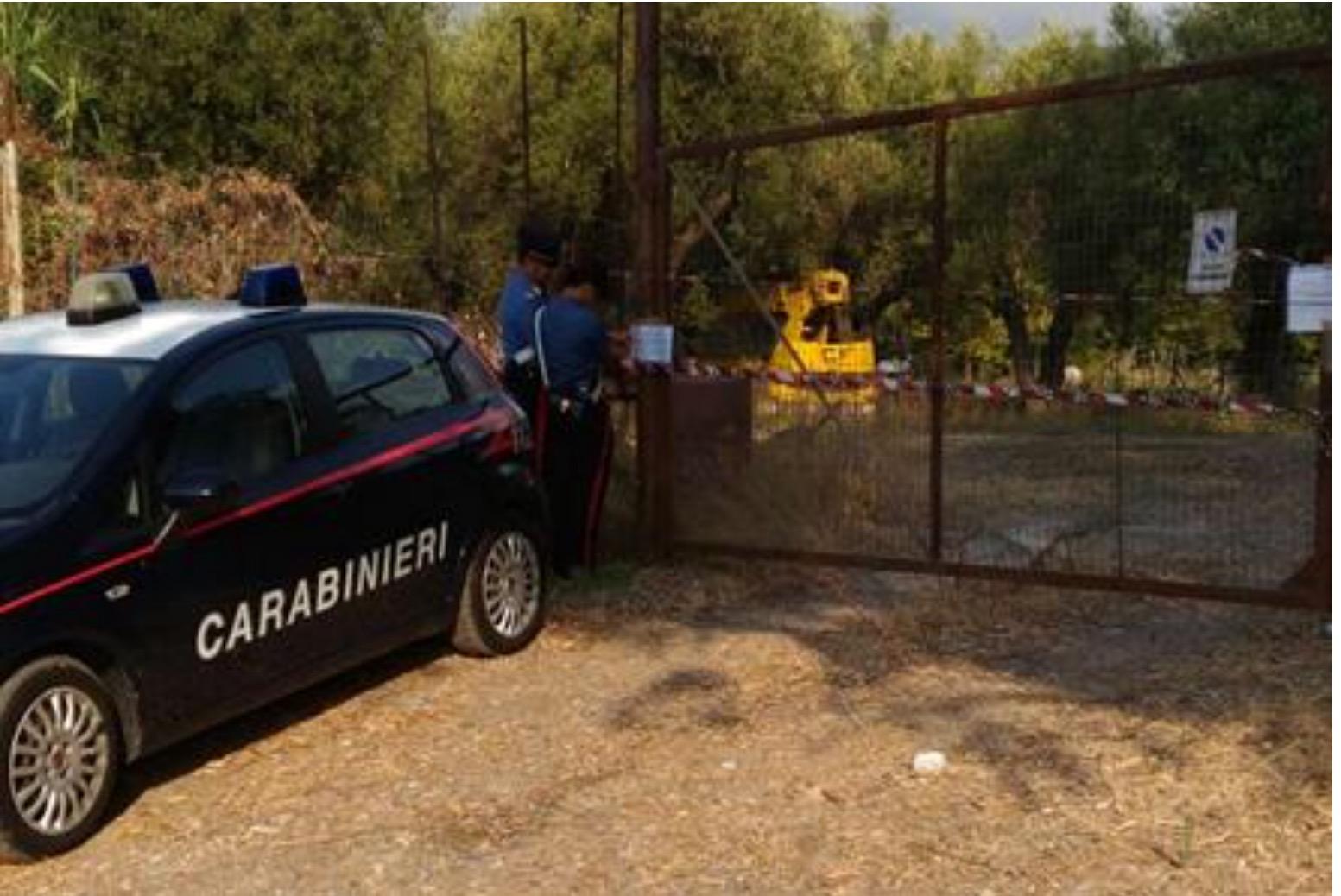 Sequestro deposito carabinieri