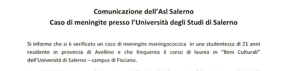"Studentessa colpita da meningococco. L'ASL: ""Niente allarmismi"""