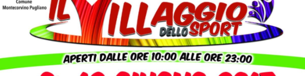 """Arriva """"Il Villaggio dello Sport"""" a Salerno, dal 9 al 18 Giugno"""