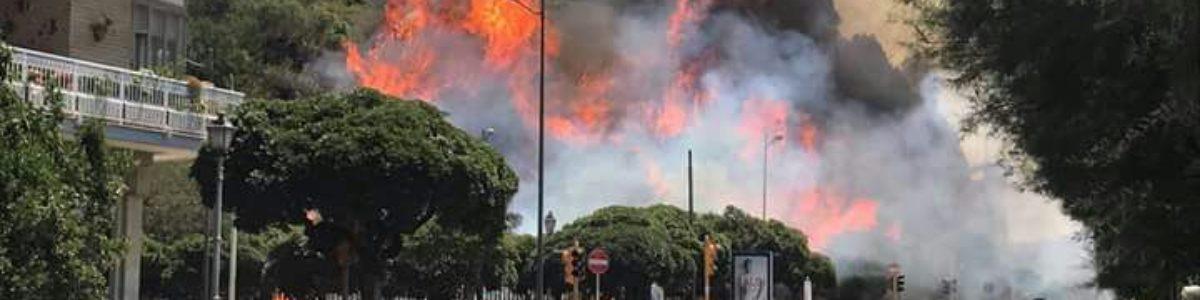 Ennesimo incendio in zona Torrione, nei pressi della Carnale