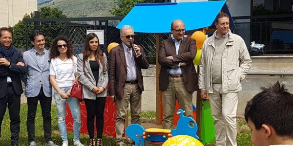 Roccapiemonte: inaugurate le giostre per i bambini diversamente abili
