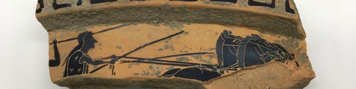 Sorpresa a Paestum, ritrovato frammento di cratere del IV sec. a.C.